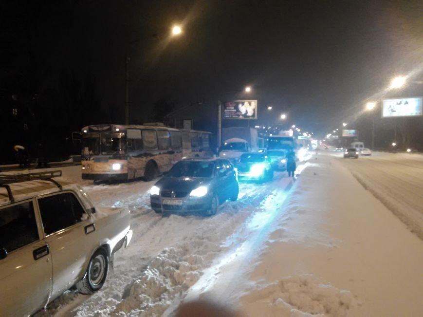 В Запорожье снегопад устроил транспортный коллапс (ФОТО, ОБНОВЛЕНО), фото-2