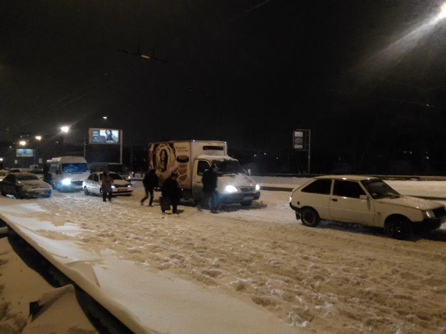 В Запорожье снегопад устроил транспортный коллапс (ФОТО, ОБНОВЛЕНО), фото-4