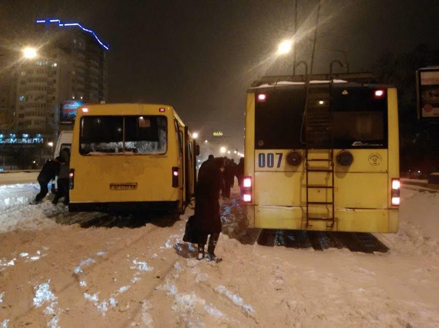В Запорожье снегопад устроил транспортный коллапс (ФОТО, ОБНОВЛЕНО), фото-5