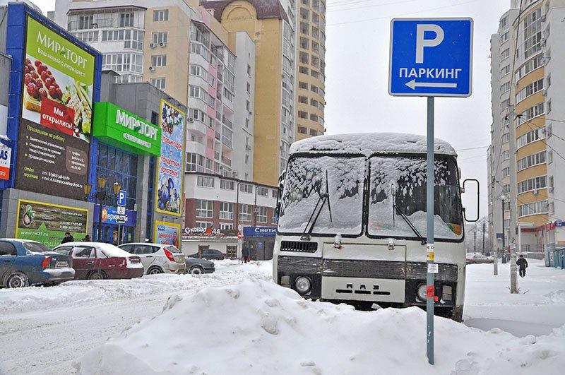 Из-за снежной бури на северном выезде из Белгорода образовался транспортный затор на сотни метров, фото-8