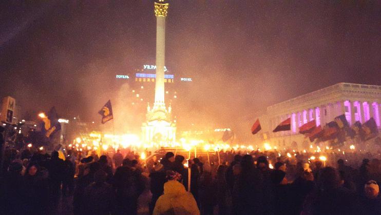 В Киеве прошел марш в честь дня рождения Бандеры (ФОТО, ВИДЕО) (фото) - фото 1