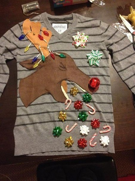Необычные новогодние свитера (фото) - фото 3