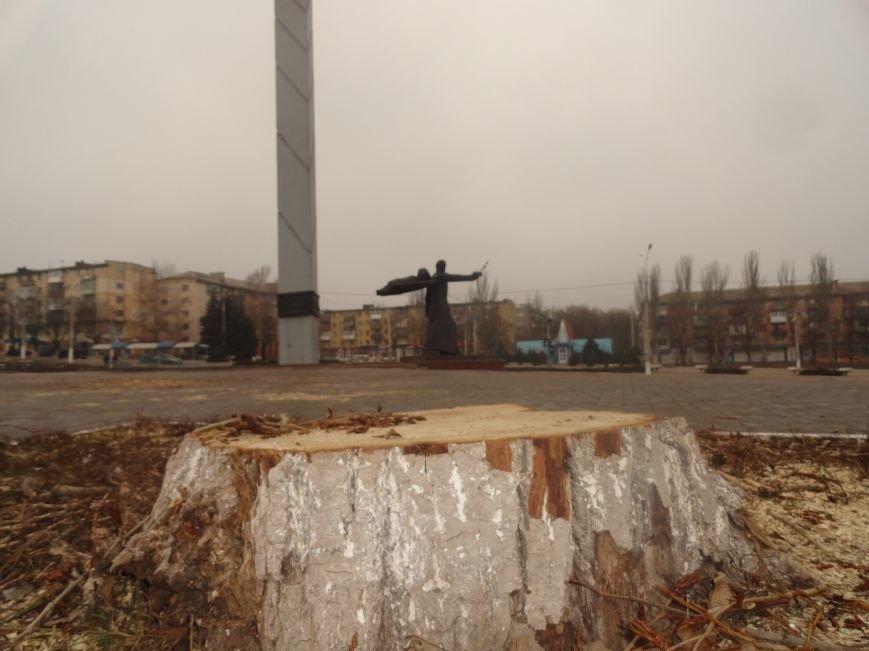 В Мариуполе организован невиданный лесоповал (ФОТОФАКТ) (фото) - фото 1