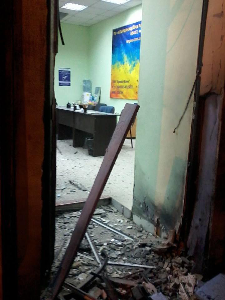 Очередной теракт в Одессе: взорвали вход в Координационный центр Евромайдана (ФОТО), фото-4