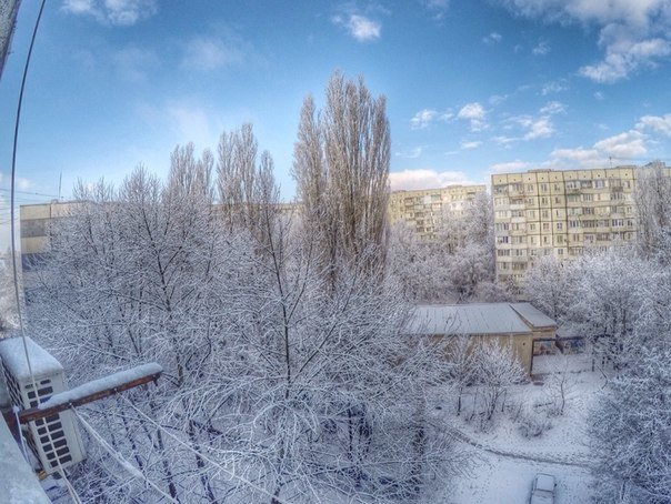 Симферопольцы в соцсетях делятся живописными снимками заснеженного города (ФОТО) (фото) - фото 9