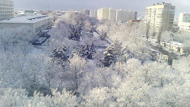 Симферопольцы в соцсетях делятся живописными снимками заснеженного города (ФОТО), фото-6