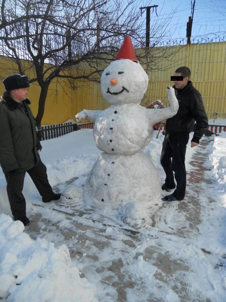 В Херсонской области прошел конкурс снежных фигур среди осужденных Дарьевской ИК(№10) (фото) - фото 1