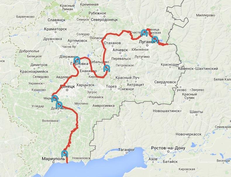 В СНБО назвали 7 пунктов пропуска на захваченный Донбасс (карта) (фото) - фото 1