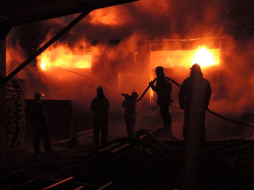 Масштабный пожар в деревообрабатывающем цехе случился из-за неисправной печи, - ГСЧС (ФОТО) (фото) - фото 1