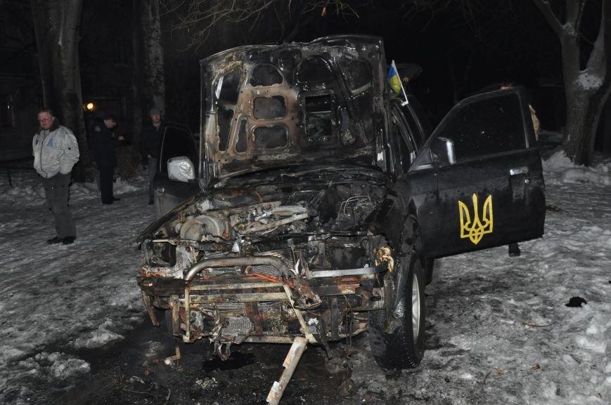 В Запорожье сожгли машину местной Самообороны (ФОТО), фото-2