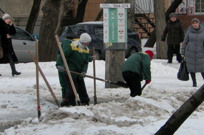 В Николаеве «женщины с лопатами» вышли бороться со снегом (ФОТО), фото-1