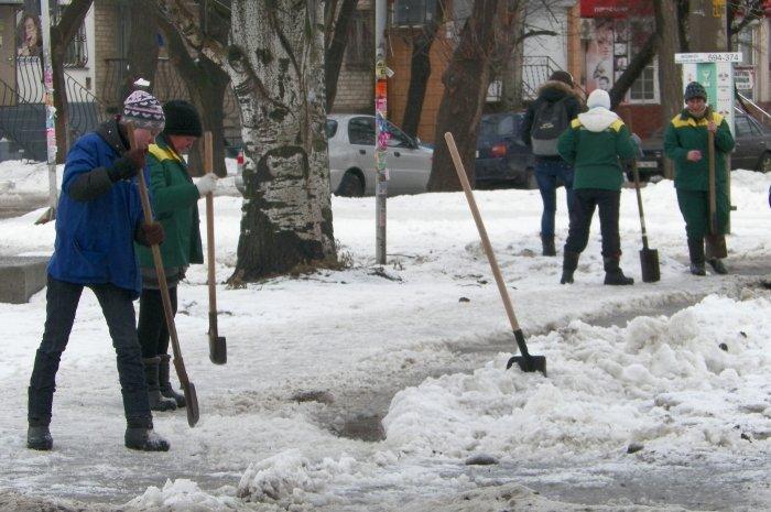 В Николаеве «женщины с лопатами» вышли бороться со снегом (ФОТО), фото-2