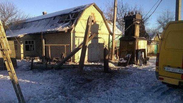 Последствия ночного обстрела Авдеевки (ФОТОРЕПОРТАЖ) (фото) - фото 1