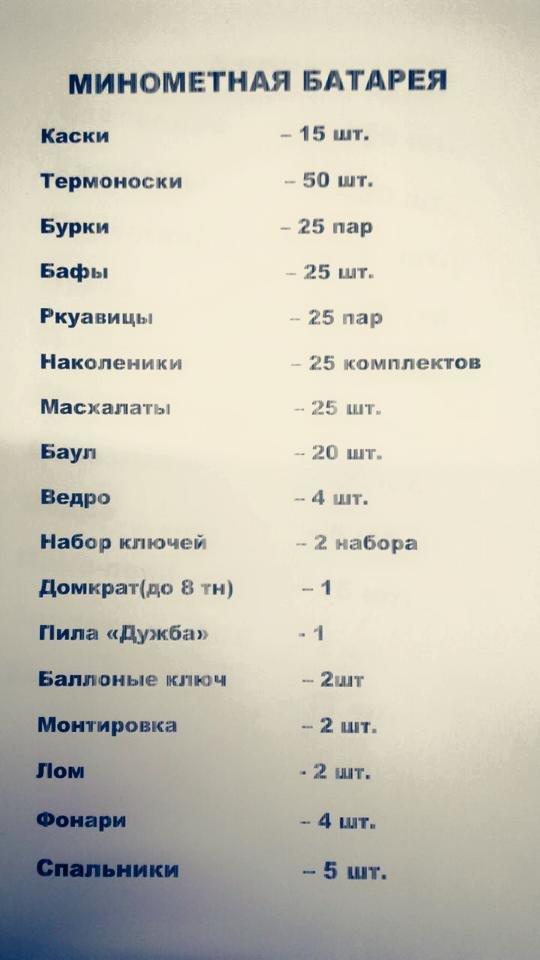 Днепропетровская 25-я бригада нуждается в помощи (СПИСОК) (фото) - фото 1