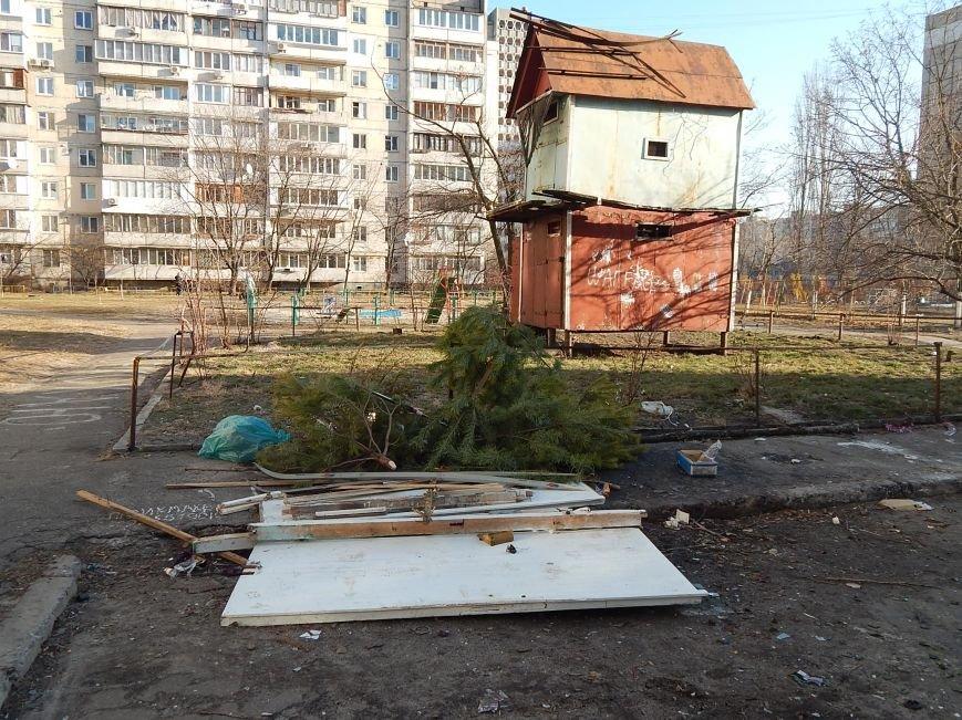 Киевляне уже избавляются от зеленых красавиц (ФОТОФАКТ) (фото) - фото 1