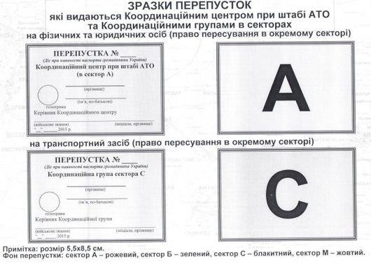 Опубликованы образцы пропусков для пересечения границы зоны АТО (фото) - фото 1