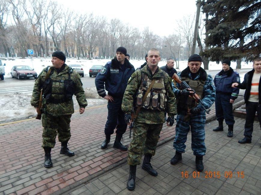 Сегодня утром очередная группа днепродзержинских милиционеров уехала в зону АТО (фото) - фото 1