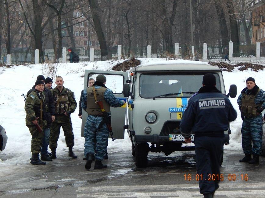 Сегодня утром очередная группа днепродзержинских милиционеров уехала в зону АТО (фото) - фото 2