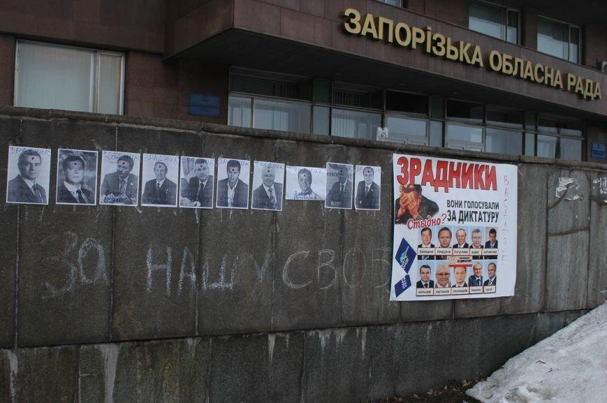 ФОТОФАКТ: Запорожские активисты нарисовали прицелы на портретах нардепов (ОБНОВЛЕНО), фото-2