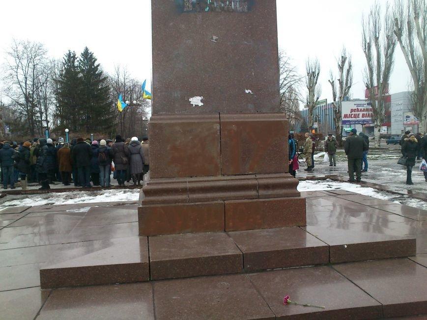 #JeSuisUkraine днепродзержинцы вышли почтить память погибших военных и жертв среди мирного населения Украины, фото-10