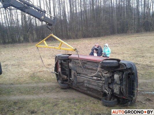 Под Гродно перевернулся VW Passat B3 (Фото), фото-3
