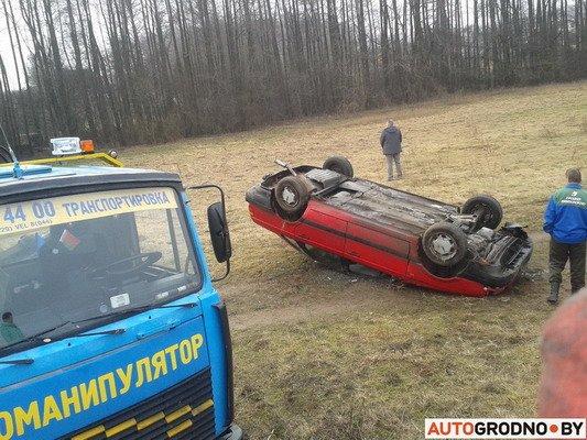 Под Гродно перевернулся VW Passat B3 (Фото), фото-2