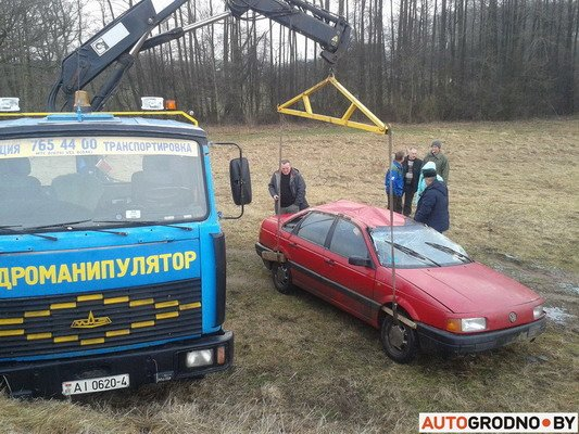 Под Гродно перевернулся VW Passat B3 (Фото), фото-4