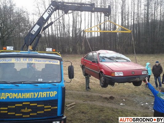 Под Гродно перевернулся VW Passat B3 (Фото), фото-5