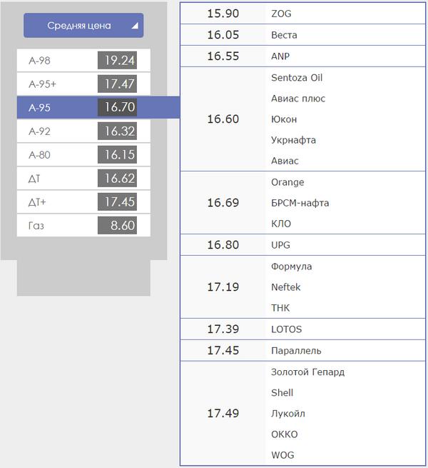 Стоимость А-95 в Днепропетровске сегодня. Цена осталась «замороженной», фото-1