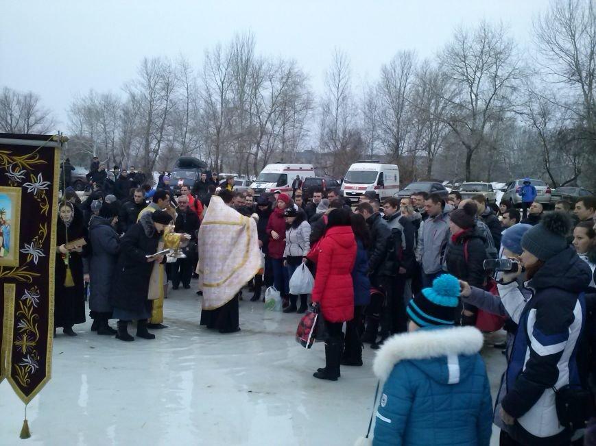 Днепродзержинцы искупались в крещенской проруби, фото-4