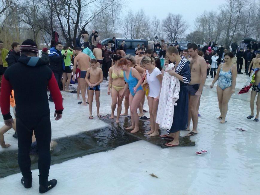 Днепродзержинцы искупались в крещенской проруби, фото-6