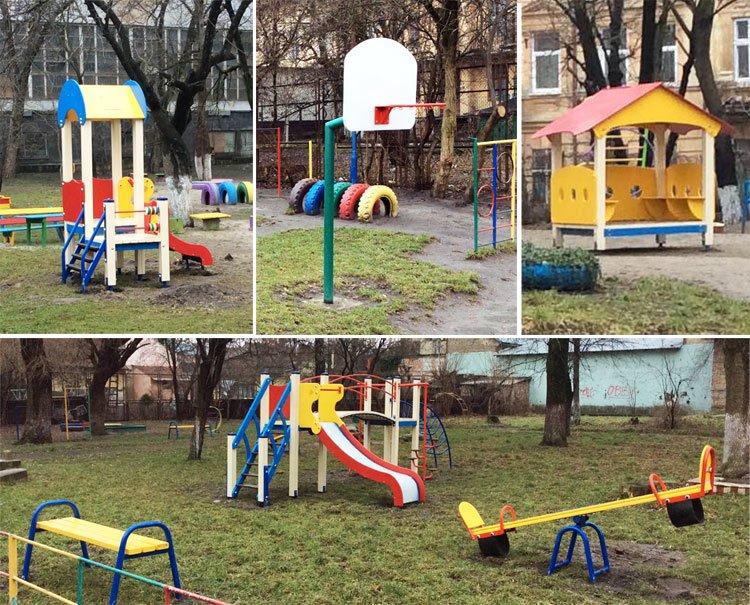 У трьох львівських садочках встановили нові майданчики за 99 тисяч гривень (фото) - фото 1