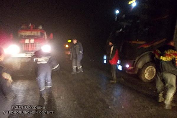 У ДТП на Тернопільщині вантажівка «Mercedes-Benz» вилетіла в кювет (фото) (фото) - фото 1