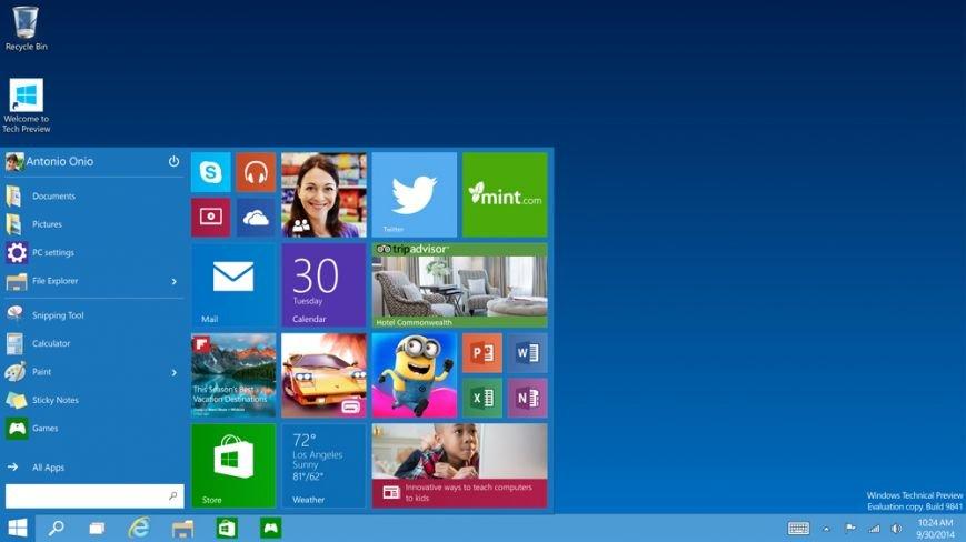 Компания Microsoft презентовала Windows 10 (фото) - фото 1