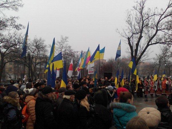 Николаевцы отметили День соборности Украины (ФОТО) (фото) - фото 1