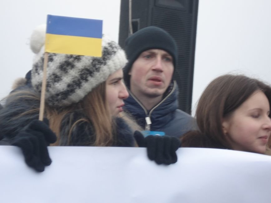 В Днепропетровске правый и левый берег связали километровым рушником (фото) - фото 6
