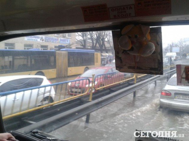 Левобережье Киева затопило (ФОТО, ВИДЕО) (фото) - фото 1