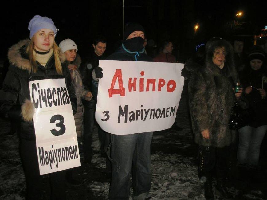 Днепропетровцы из лампадок выложили «Я Мариуполь», а оркестр сыграл «Реквием» Моцарта (ВИДЕО, ФОТО) (фото) - фото 2