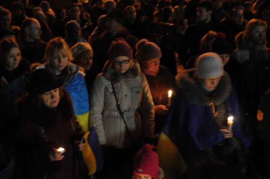 ФОТОРЕПОРТАЖ: В Запорожье горожане собрались под ОГА к годовщине кровавого разгона Майдана, фото-4