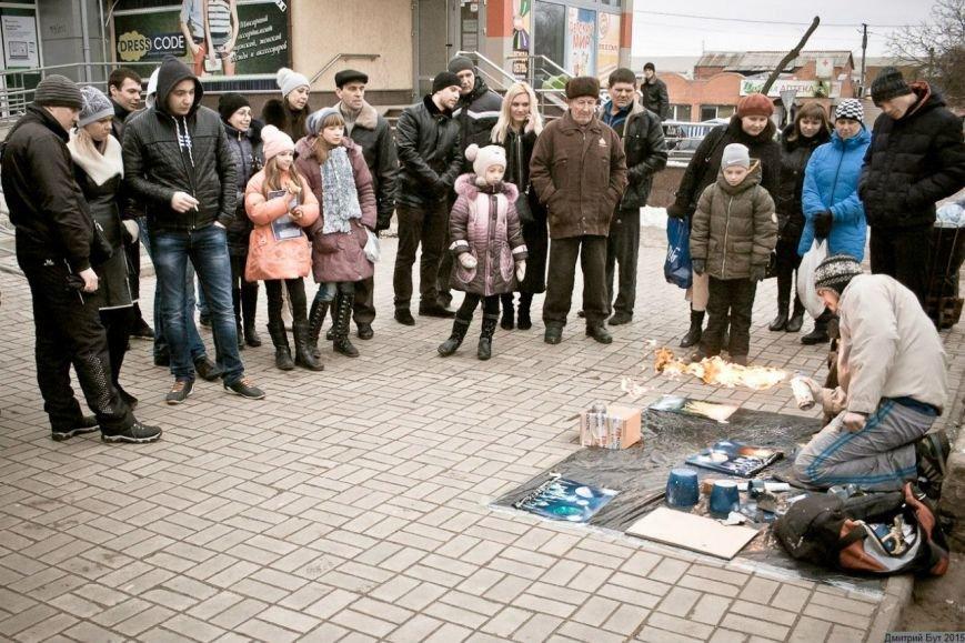 На Днепропетровщине художник-экстремал рисует штанами и горелкой (ФОТО), фото-2