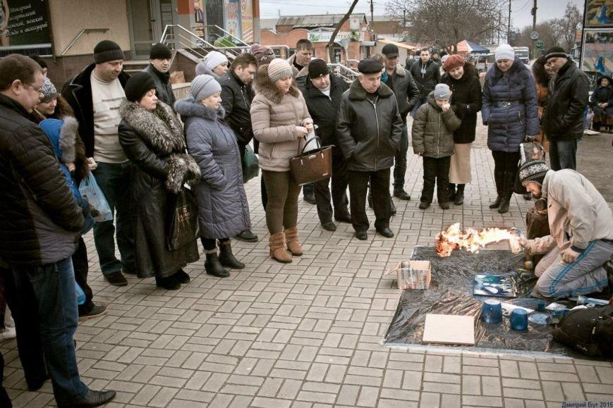 На Днепропетровщине художник-экстремал рисует штанами и горелкой (ФОТО), фото-4