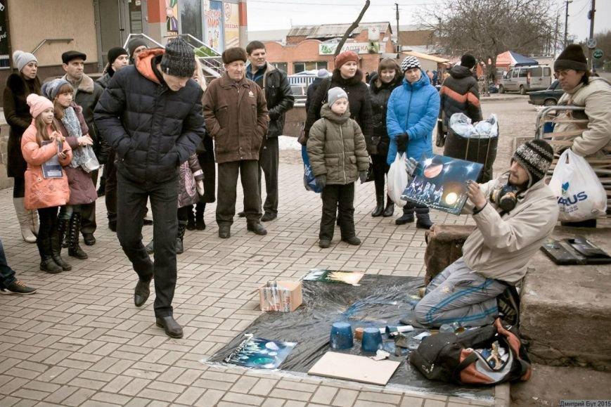 На Днепропетровщине художник-экстремал рисует штанами и горелкой (ФОТО), фото-3
