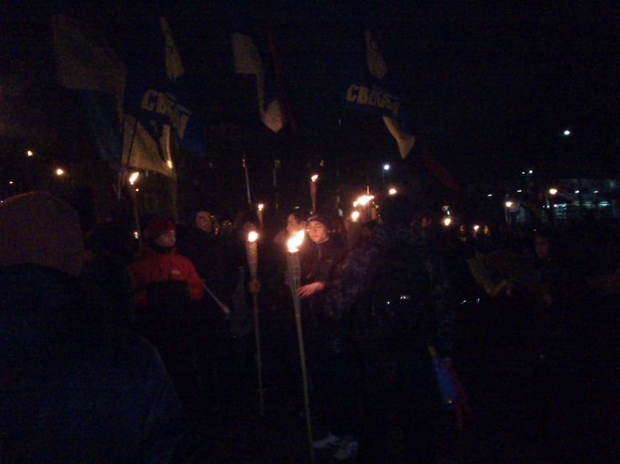 В Днепродзержинске состоялось факельное шествие, фото-1