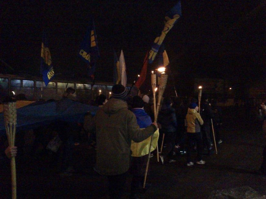 В Днепродзержинске состоялось факельное шествие, фото-4