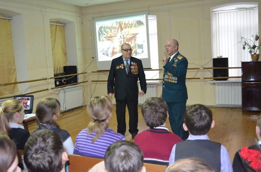 Ветераны рассказывают школьникам о тяжелых годах войны, фото-1