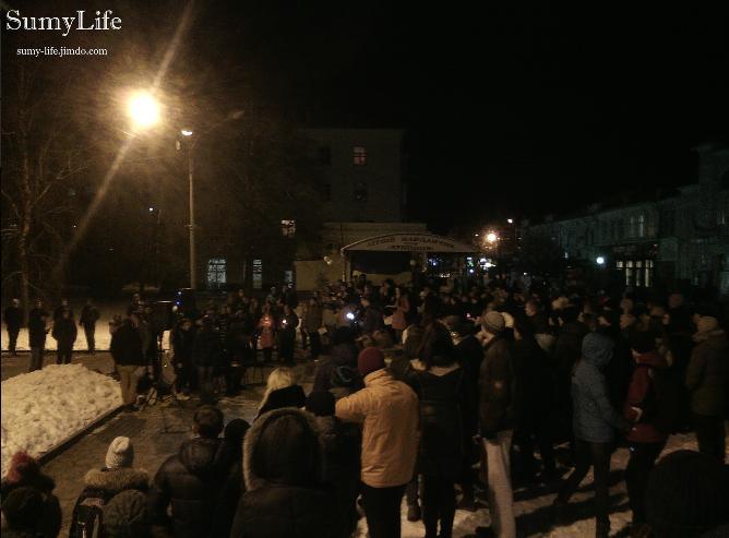 Сумчане почтили память погибшего в аварии Кузьмы (ФОТО+ВИДЕО) (фото) - фото 1