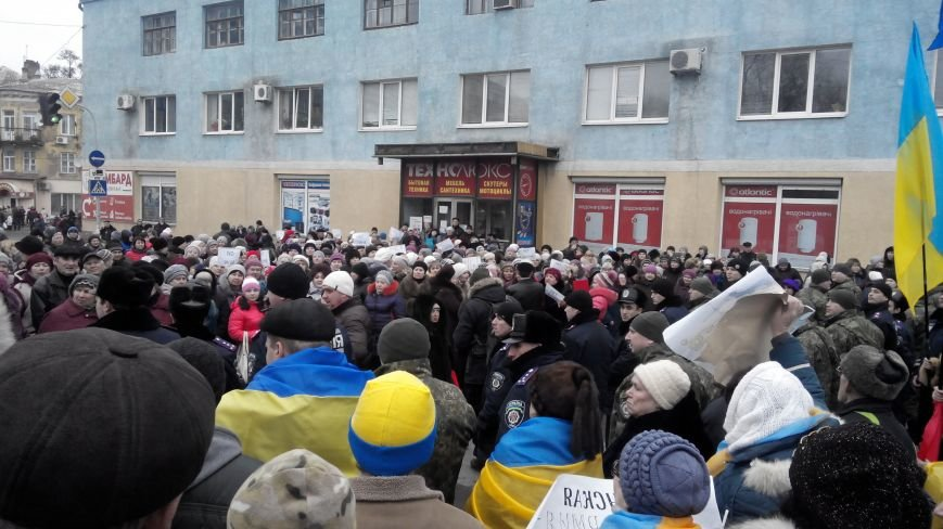 В Краматорске начался митинг против мобилизации: ФОТОРЕПОРТАЖ (ОБНОВЛЯЕТСЯ!) (фото) - фото 17