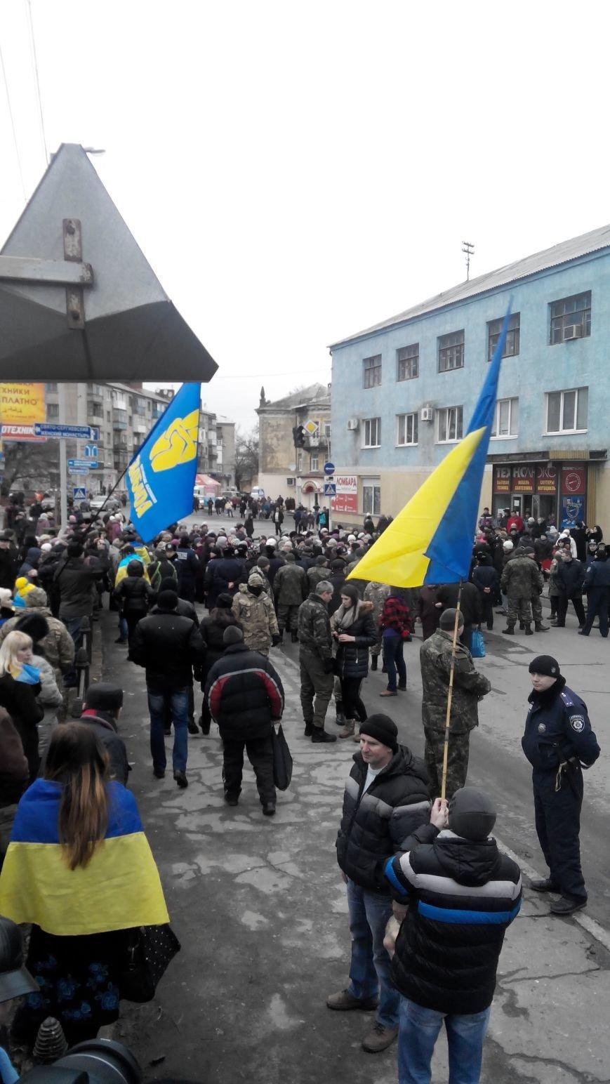 В Краматорске начался митинг против мобилизации: ФОТОРЕПОРТАЖ (ОБНОВЛЯЕТСЯ!) (фото) - фото 15