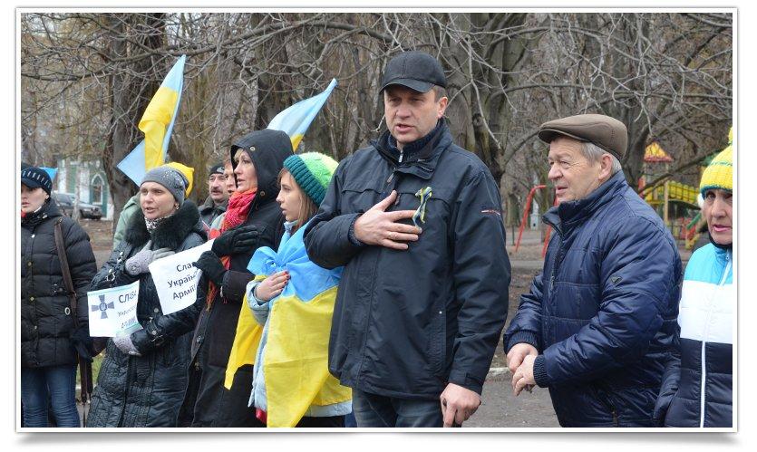 В Краматорске пикетируют военкомат противники мобилизации (фото) - фото 3