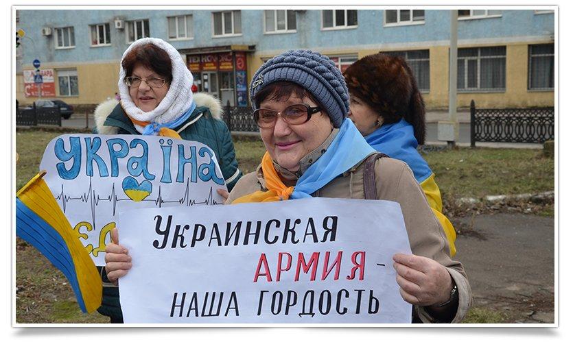 В Краматорске пикетируют военкомат противники мобилизации (фото) - фото 1